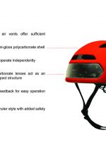 T2 fietshelm met ingebouwde verlichting (7 kleuren)